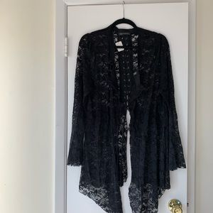 NWT black lace cardigan. Brand new piece